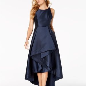 Adrianna Papell High-Low Mikado Gown Midnight